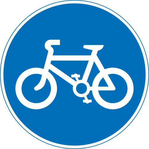 Cycle Track road sign