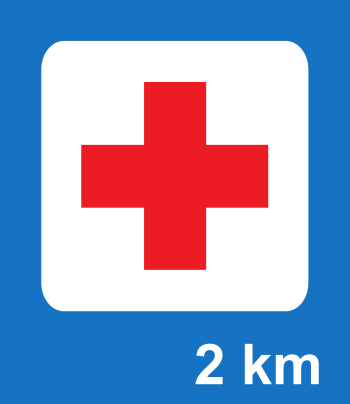 First Aid road sign