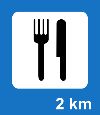 Food road sign