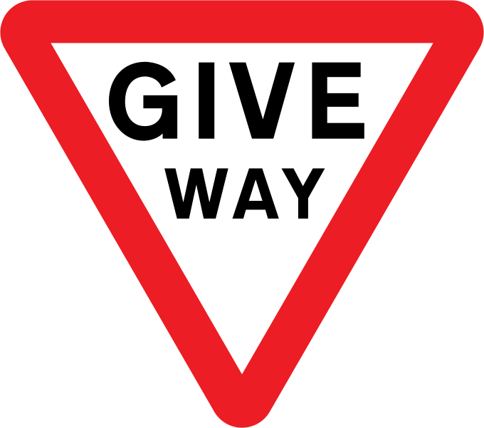 Yield / Give way road sign