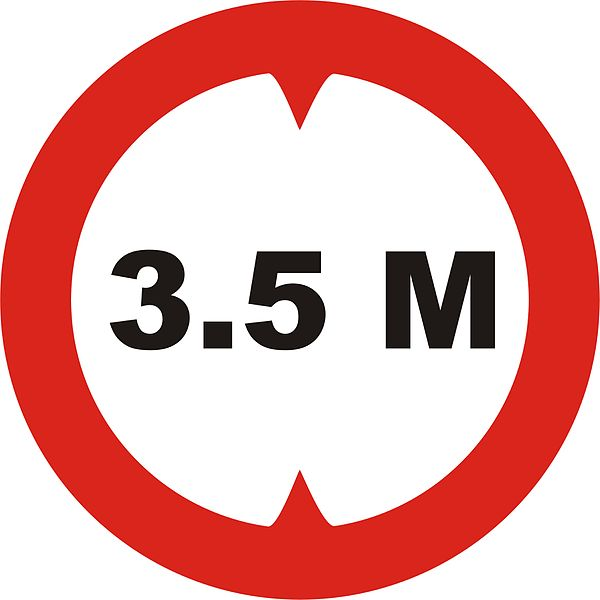 Vehicle Height Limit road sign