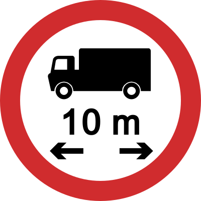 Vehicle Length Limit road sign