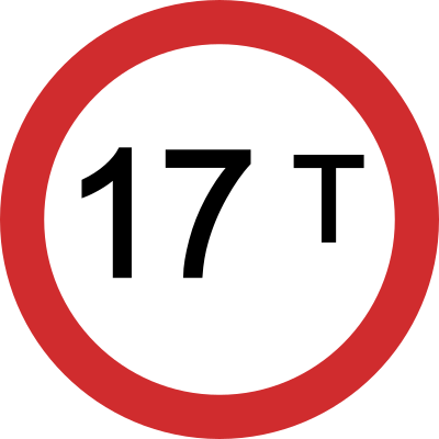 Vehicle Load Limit road sign
