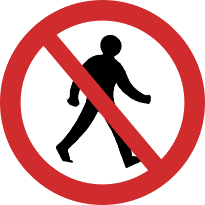 Pedestrian Prohibited road sign