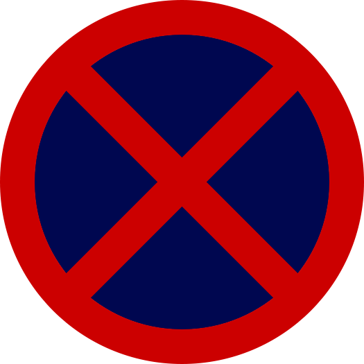 No Standing or Parking road sign