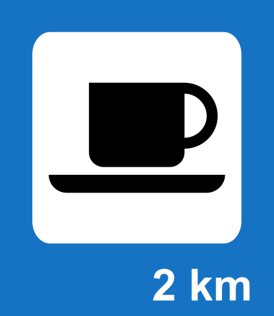 Tea and Snacks road sign