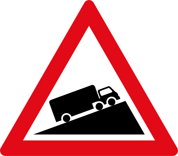Steep Ascent road sign