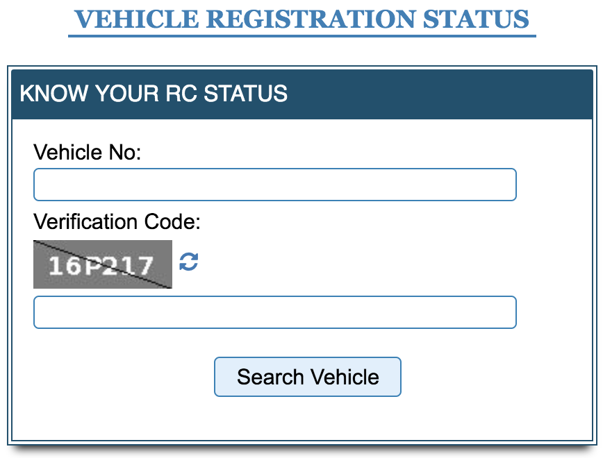 Vehicle Search Form
